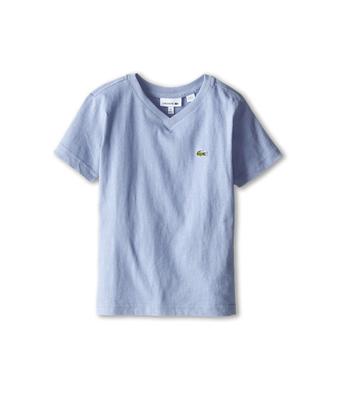 Lacoste Kids - S/S Classic Jersey V-Neck Tee (Toddler/Little Kids/Big Kids) (Fuji) Boy