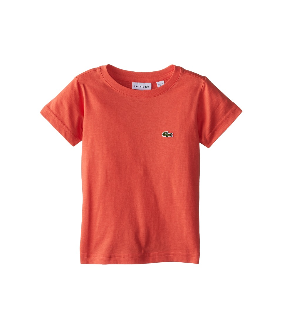 Lacoste Kids - S/S Classic Crewneck Jersey Tee (Toddler/Little Kids/Big Kids) (Mambo) Boy