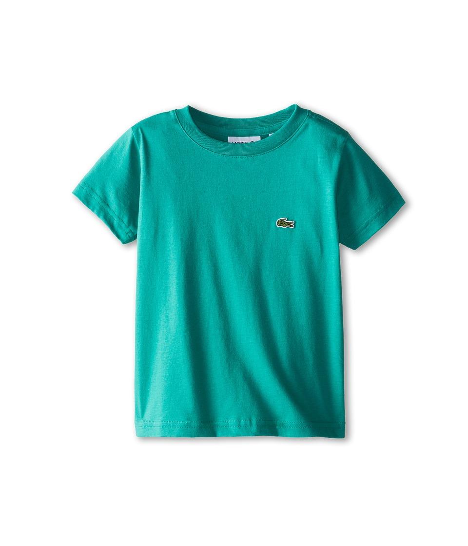 Lacoste Kids - S/S Classic Crewneck Jersey Tee (Toddler/Little Kids/Big Kids) (Dragon) Boy's Short Sleeve Pullover