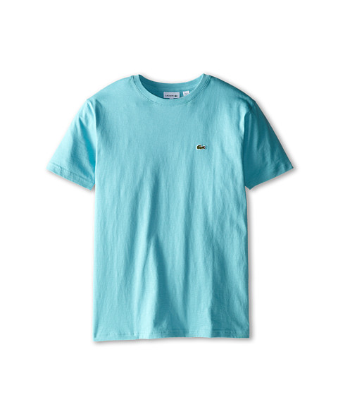 Lacoste Kids - S/S Classic Crewneck Jersey Tee (Toddler/Little Kids/Big Kids) (Corsica Aqua) Boy