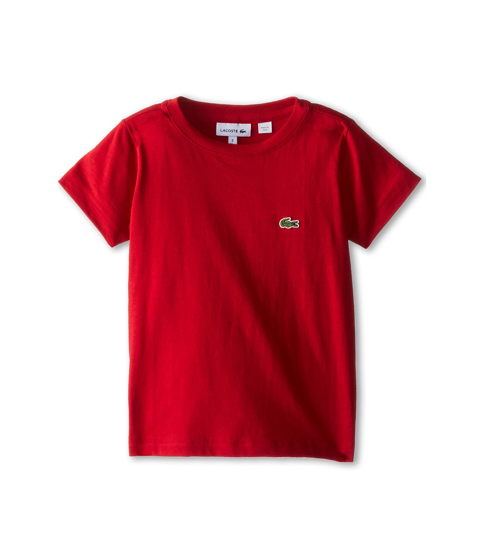 Lacoste Kids - S/S Classic Crewneck Jersey Tee (Toddler/Little Kids/Big Kids) (Tokyo Red) Boy