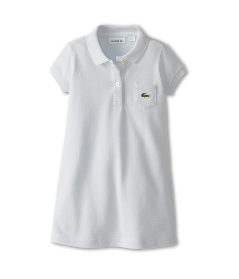 Lacoste Kids - Short Sleeve Classic Pique Polo Dress (Toddler/Little Kids/Big Kids) (Origami Blue) Girl