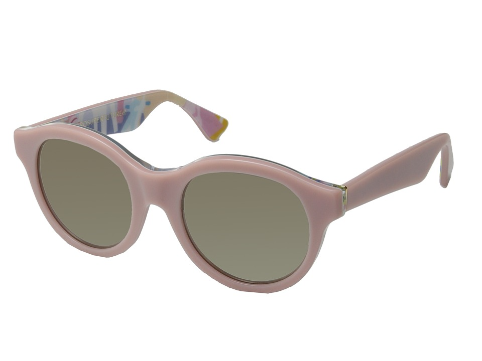 Super - Mona Ferragosto (Shiny Pink/Ferragosto Print) Fashion Sunglasses