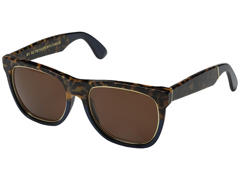 Super - Classic Costiera (Havana Tortoise/Blue Metallic Acetate) Fashion Sunglasses