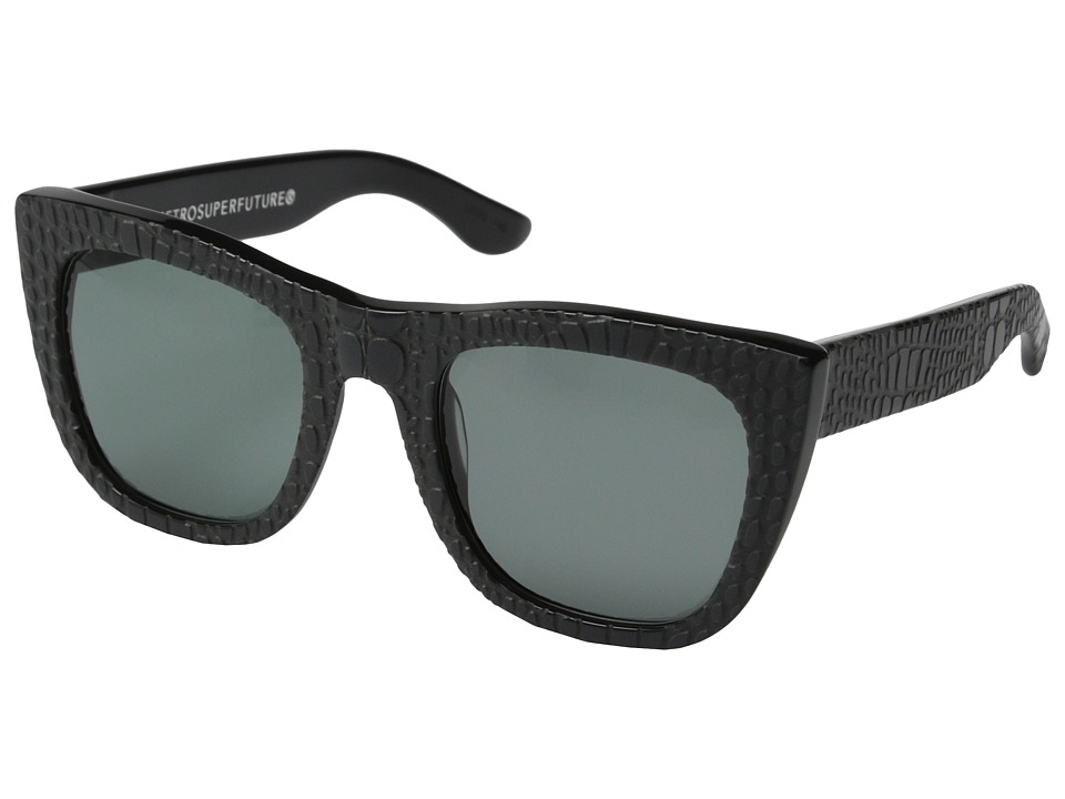 Super - Gals Smeralda (Black Embossed Acetate) Fashion Sunglasses
