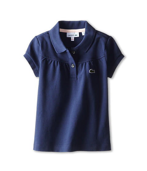 Lacoste Kids - S/S Classic Pique Polo (Toddler/Little Kids/Big Kids) (Celeste/Nymph) Girl's Short Sleeve Pullover