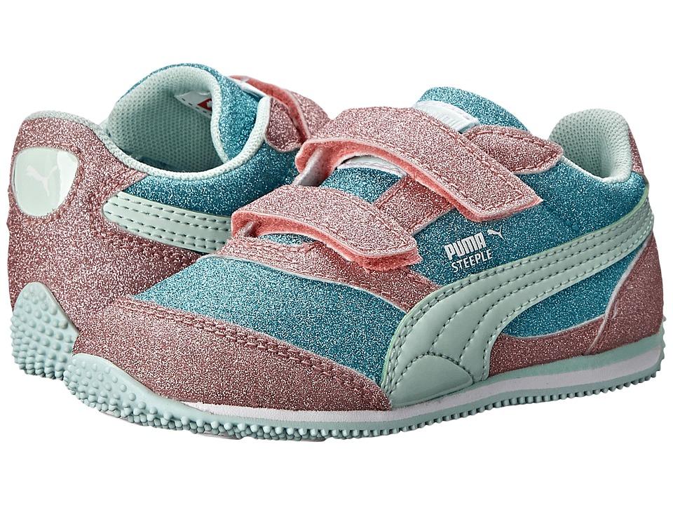Puma Kids - Steeple Glitz Multi V (Toddler/Little Kid/Big Kid) (Capri Breeze/Salmon Rose/Bay) Girls Shoes