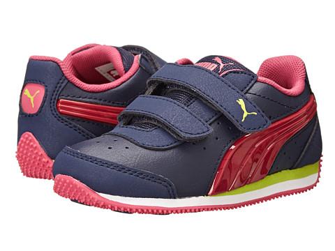 Puma Kids - Speed Light up V (Toddler/Little Kid/Big Kid) (Peacoat/Beetroot Purple/Lime Punch) Girls Shoes