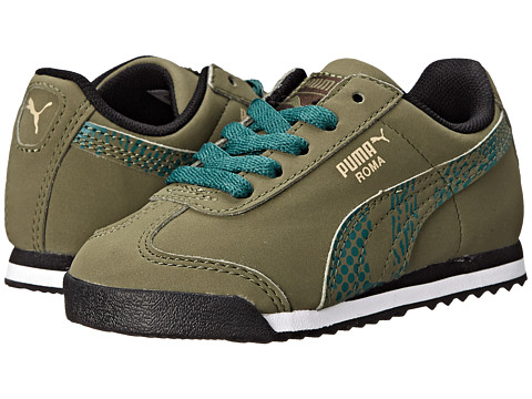 Puma Kids - Roma Camo (Toddler/Little Kid) (Burnt Olive/Pale Khaki/Black Coffee) Boys Shoes