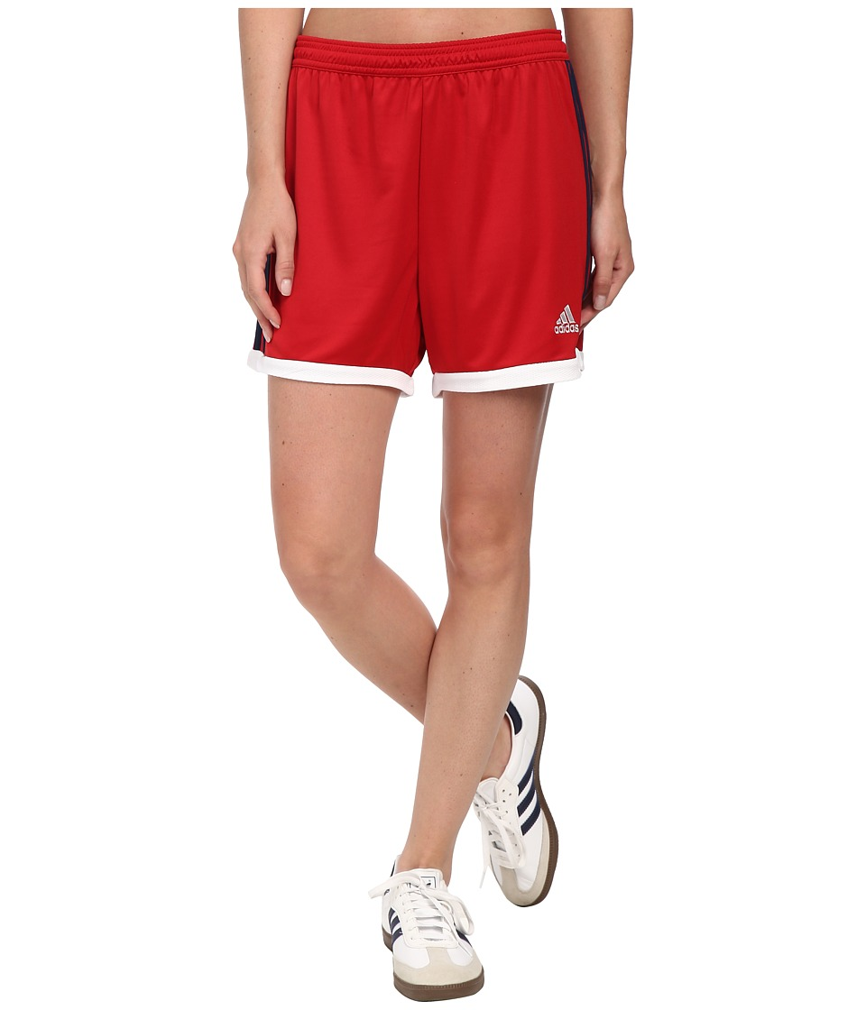 adidas - Tastigo 15 Knit Short (Power Red/White/Collegiate Navy (USA Inspired)) Women