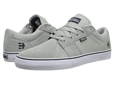 etnies - Barge LS (Light Grey/Navy) Men's Skate Shoes