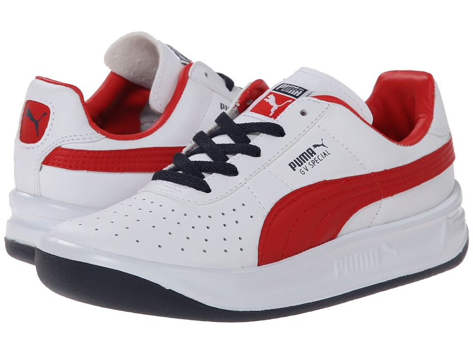Puma Kids - GV Special Jr (Little Kid/Big Kid) (White/High Risk Red) Boys Shoes