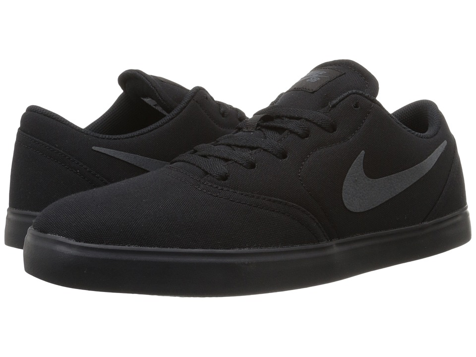 Nike SB - Check Canvas (Black/Anthracite) Men's Skate Shoes
