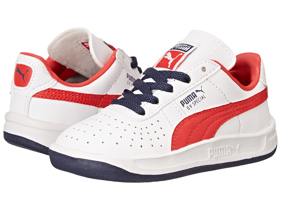 Puma Kids - GV Special (Toddler/Little Kid/Big Kid) (White/High Risk Red) Boys Shoes