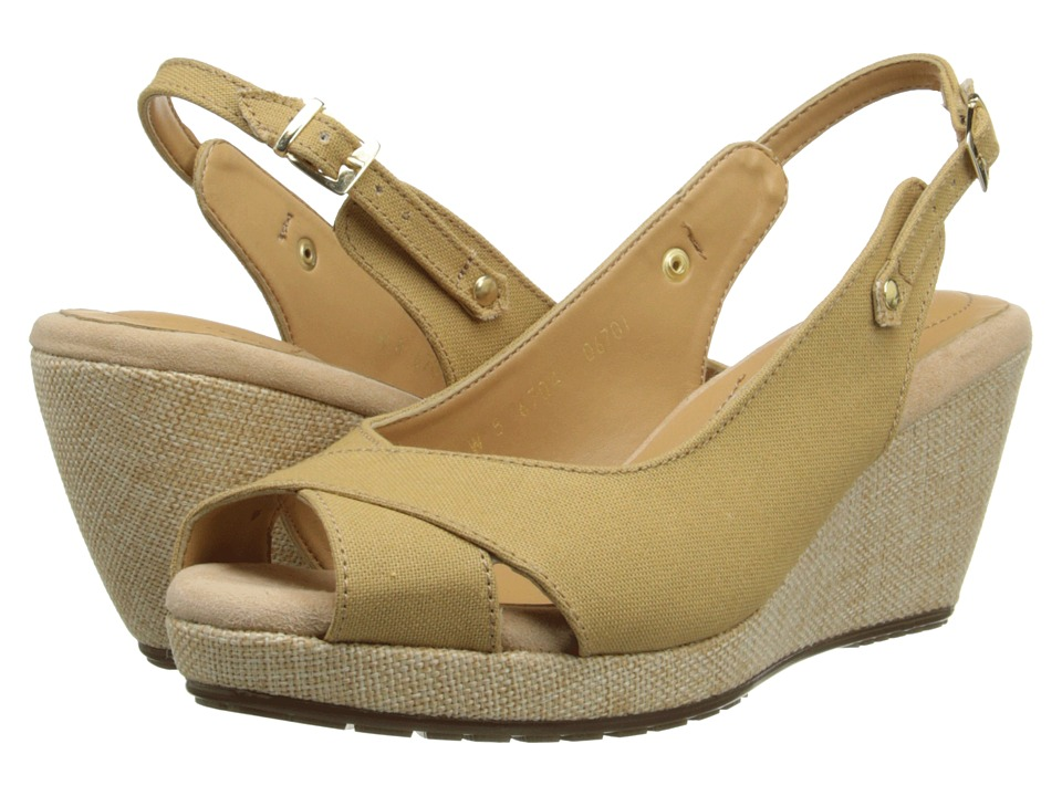 Fitzwell - Olivia (Natural Linen) Women's Wedge Shoes
