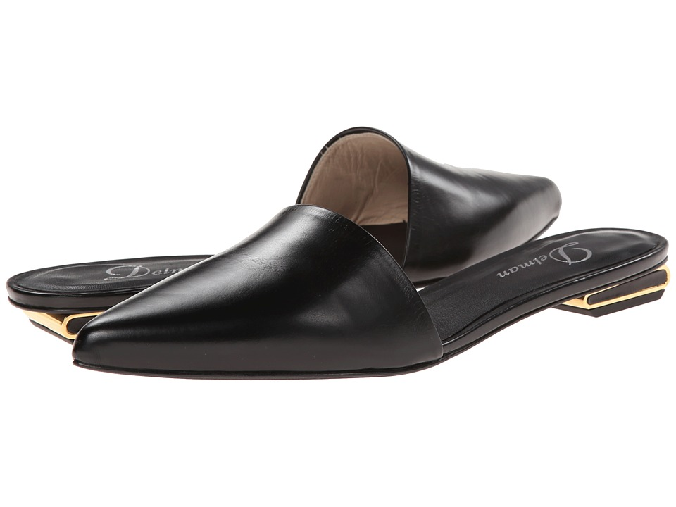 Delman - Scout (Black Calfskin) Women's Slip-on Dress Shoes