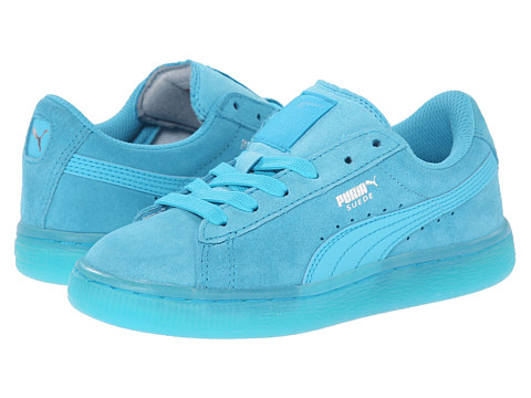 Puma Kids - Suede Classic Iced Jr (Little Kid/Big Kid) (Blue Atoll/Puma Silver) Kids Shoes