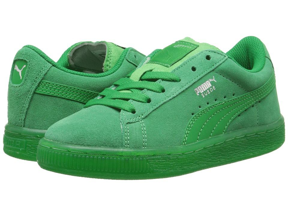Puma Kids - Suede Classic Iced Jr (Little Kid/Big Kid) (Fern Green/Puma Silver) Kids Shoes