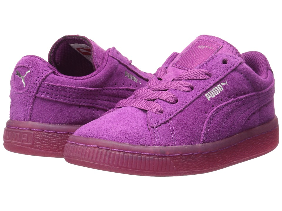 Puma Kids - Suede Iced (Toddler/Little Kid) (Vivid Viola/Puma Silver) Kids Shoes