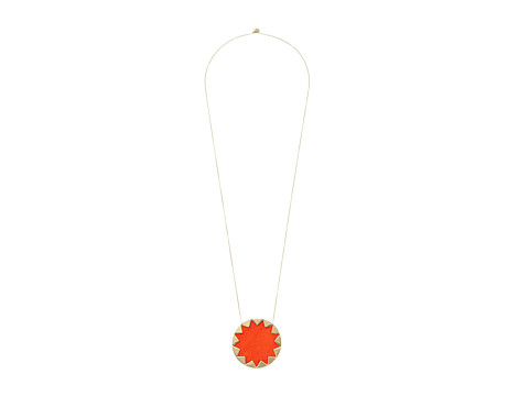 House of Harlow 1960 - Sunburst Pendant Necklace (Tomato) Necklace