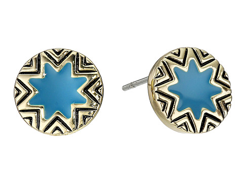 House of Harlow 1960 - Enameled Sunburst Studs (Teal) Earring