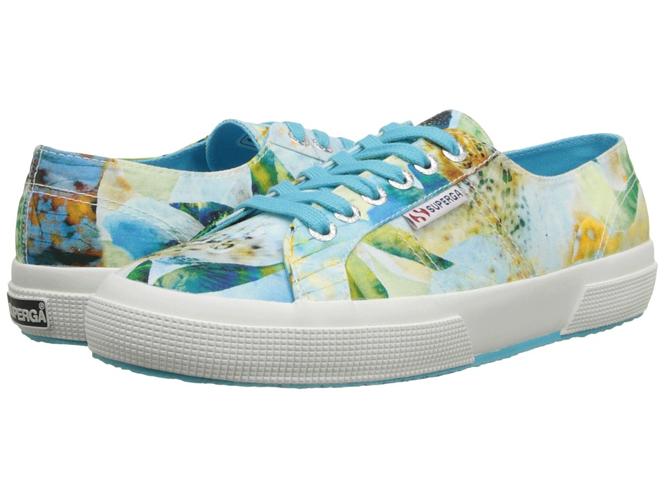 Superga - 2750 Fabric Bahamas (Tropical Azul/Multi) Women