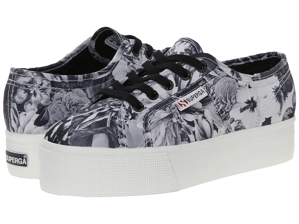 Superga - 2790 Fabricw Annabella (Black/White) Women's Lace up casual Shoes