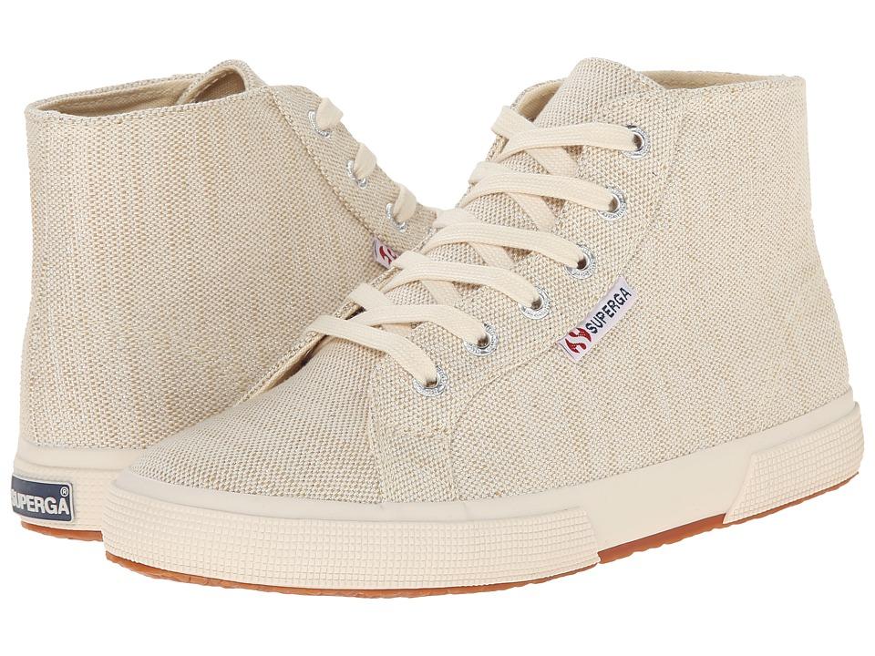 Superga - 2095 Metallic Linen (Natural) Women's Lace up casual Shoes