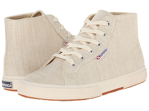 Superga - 2095 Metallic Linen (Natural) Women's Lace up casual Shoes