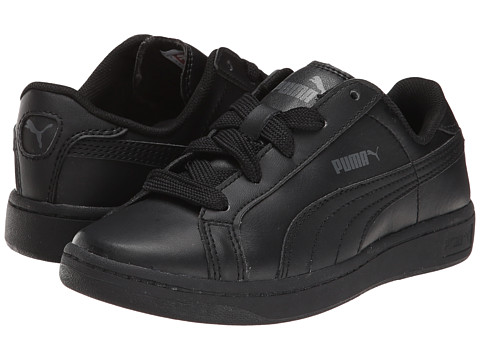 Puma Kids - Puma Smash L Jr (Little Kid/Big Kid) (Black/Black/Dark Shadow) Kids Shoes