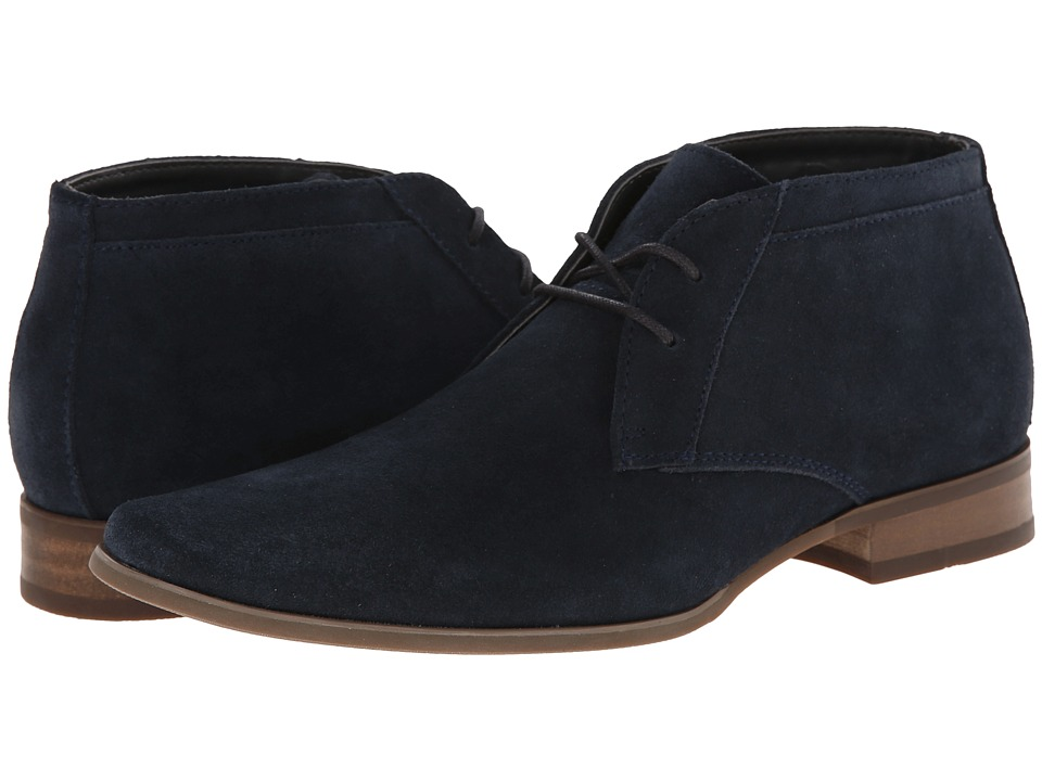 Calvin Klein - Ballard (Navy Suede) Men's Shoes