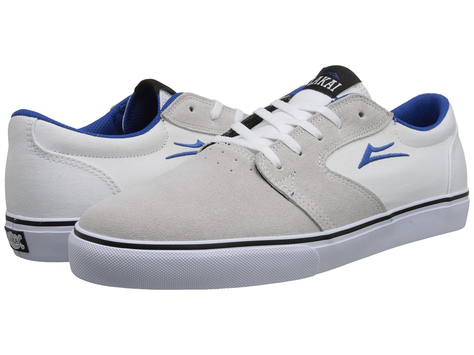 Lakai - Fura (White/Blue Suede) Men's Skate Shoes