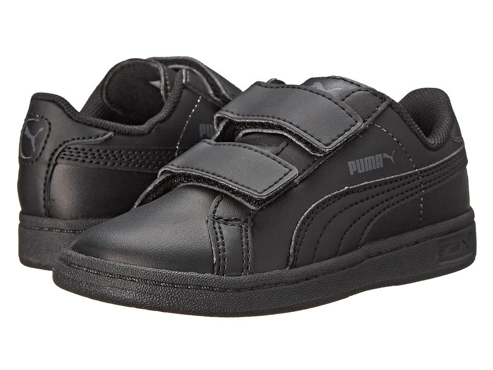Puma Kids - Puma Smash L V (Toddler/Little Kid) (Black/Black/Dark Shadow) Kids Shoes