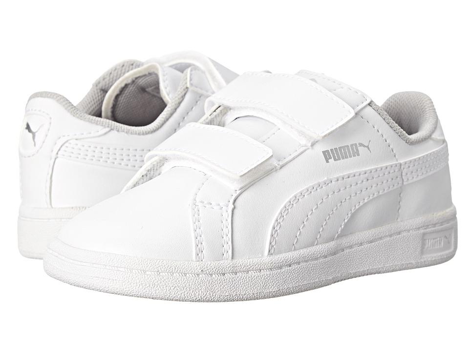 Puma Kids - Puma Smash L V (Toddler/Little Kid) (White/Gray Violet) Kids Shoes