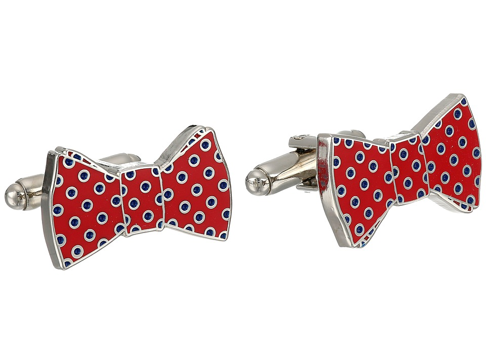 Cufflinks Inc. - Polka Dot Bowtie Cufflinks (Red/Navy) Cuff Links