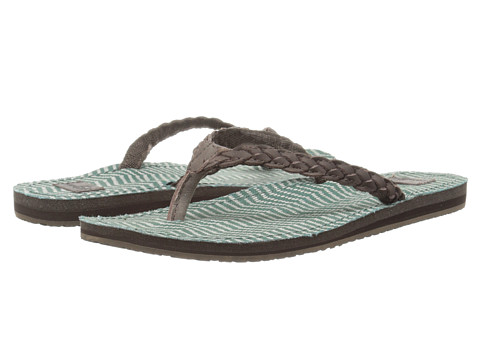 Sanuk - Poncho Viva (Dark Brown/Mallard Congo) Women's Sandals
