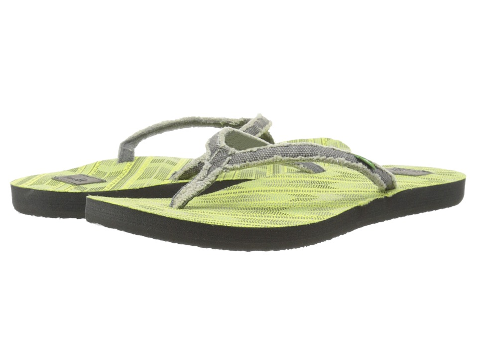 Sanuk Slim Fraidy Funk (Charcoal/Highlighter) Women