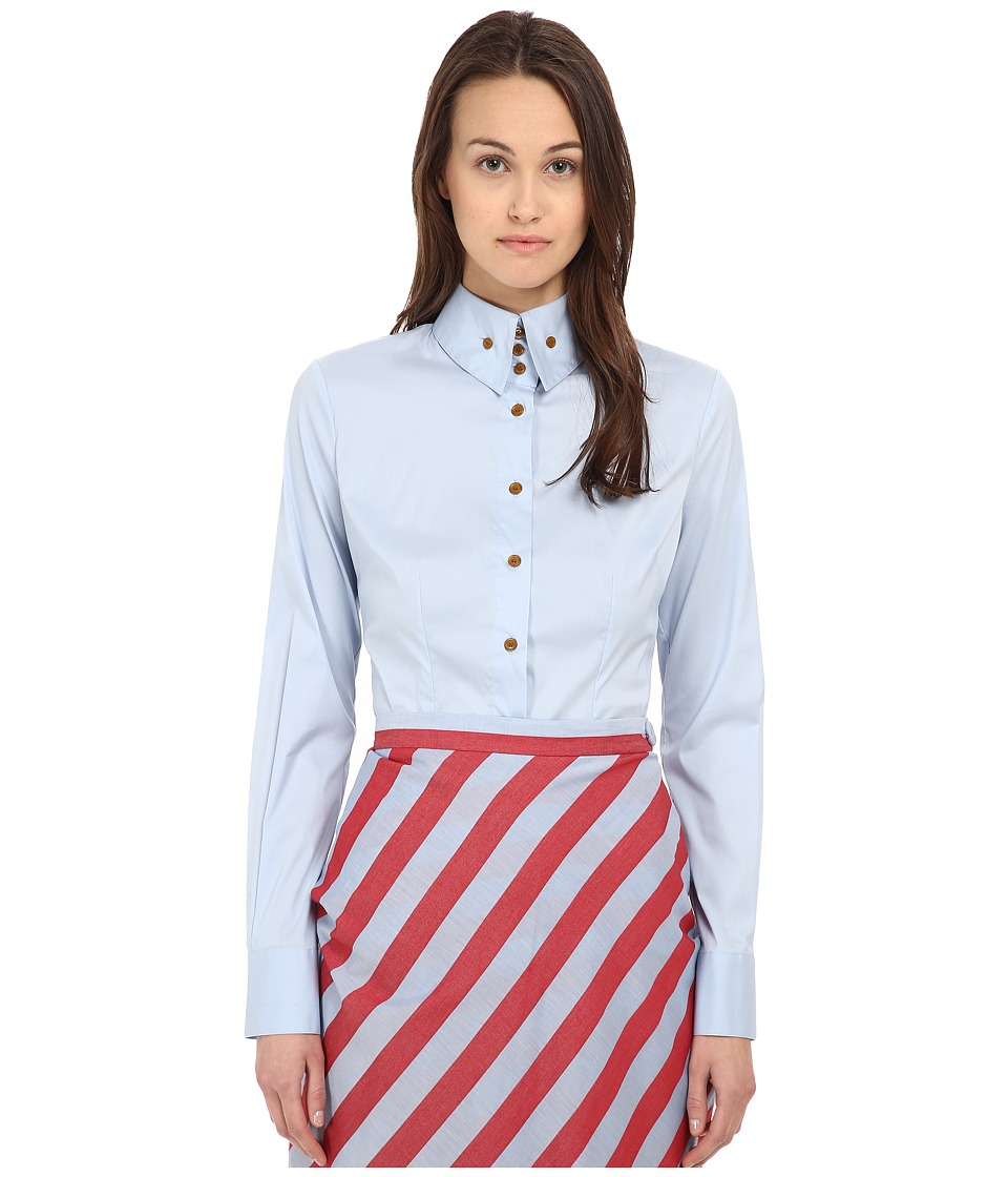Vivienne Westwood Red Label - Classic Krall Shirting (Light Blue) Women's Long Sleeve Button Up