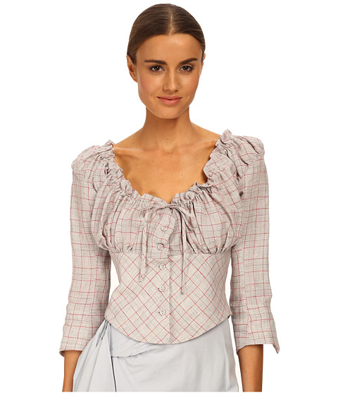 Vivienne Westwood Red Label - 1970 Shirt (Gray Check Red) Women