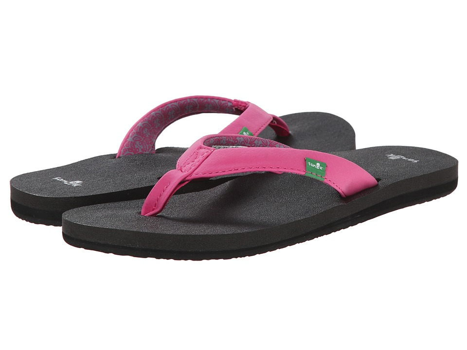 Sanuk - Yoga Zen (Fuchsia) Women's Sandals
