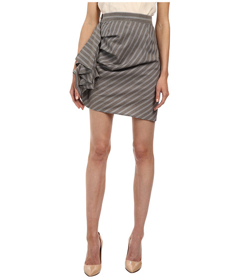 Vivienne Westwood Red Label - Frill Skirt (Gray/Stripe) Women's Skirt