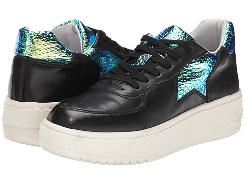 ASH - Fool (Black Nappa Calf/Green Alligator) Women