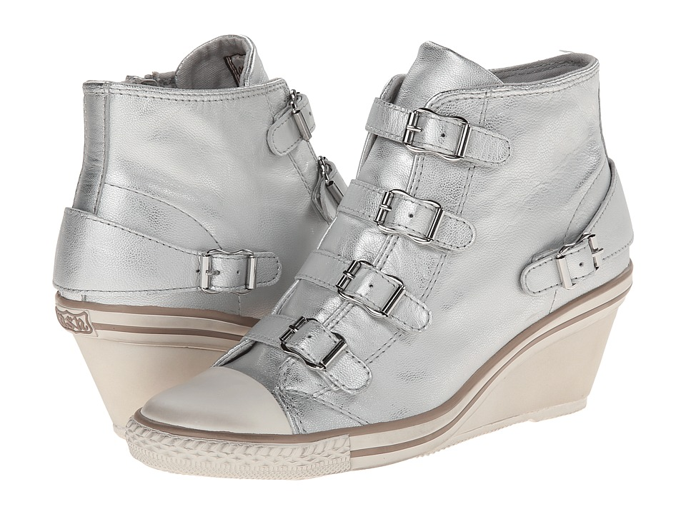 ASH - Genial (Silver Iron) Women's Wedge Shoes