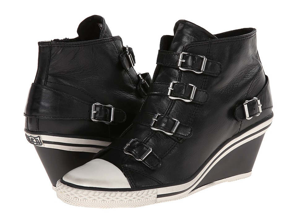 ASH - Genial (Black Nappa Wax 1) Women's Wedge Shoes