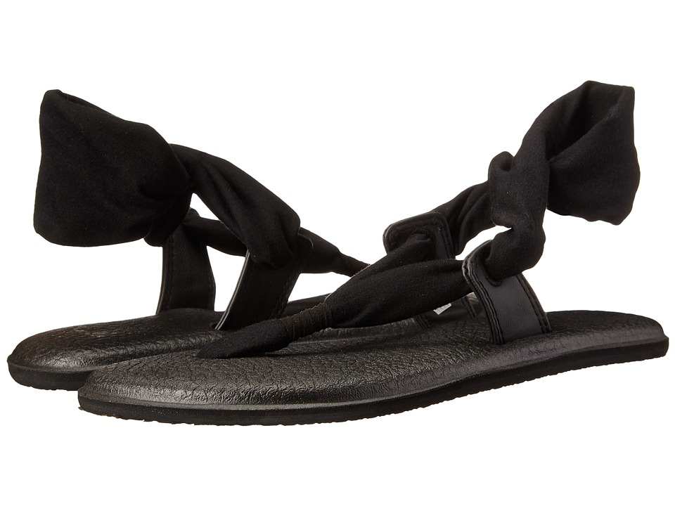 Sanuk - Yoga Slinglet (Black) Women's Sandals