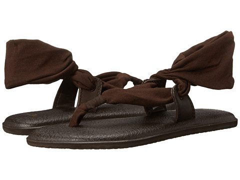 Sanuk - Yoga Slinglet (Dark Brown) Women's Sandals