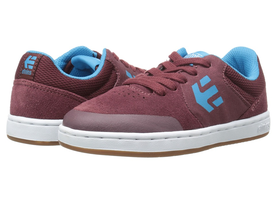 etnies Kids - Marana (Toddler/Little Kid/Big Kid) (Maroon/White) Boys Shoes