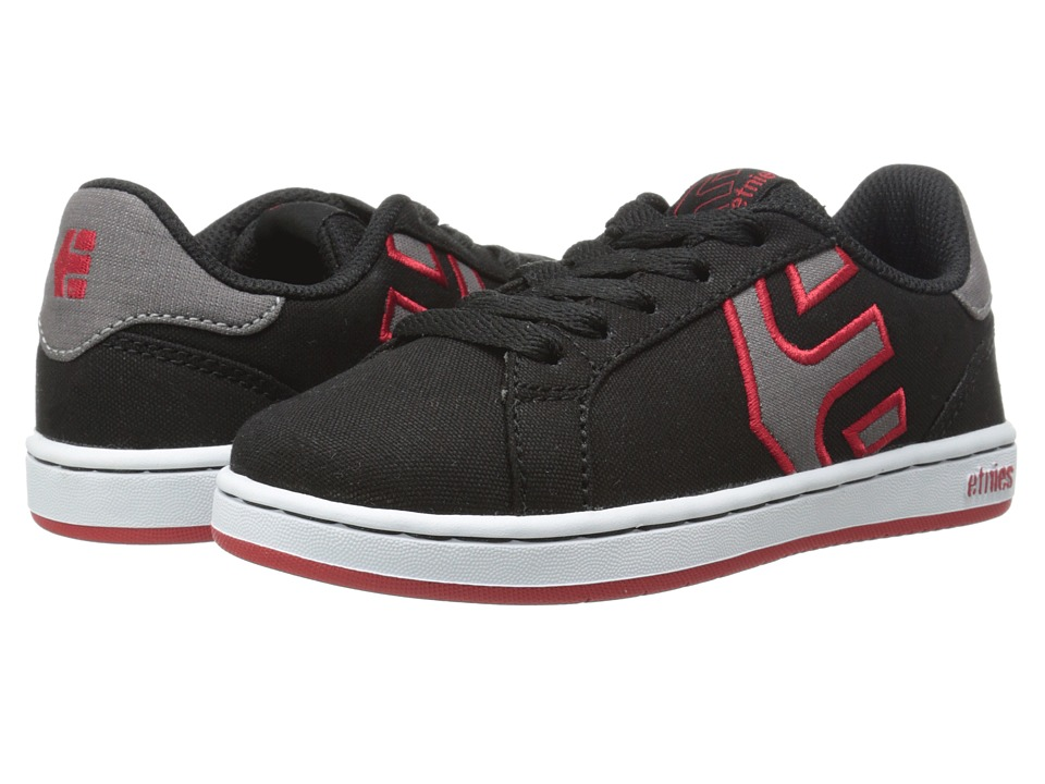 etnies Kids - Fader LS (Toddler/Little Kid/Big Kid) (Black/White/Red) Boys Shoes