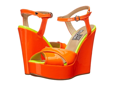 LOVE Moschino - JA1611CE0KJB140B (Orange/Yellow) Women's Wedge Shoes