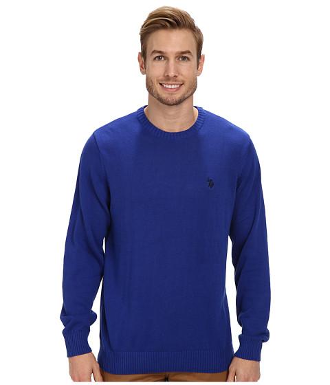 U.S. POLO ASSN. - Solid Crew Neck Sweater (Cobalt) Men